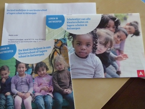 Booklets and letter for preschool registration